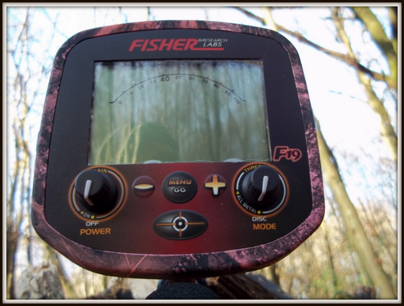 Fisher F19 metal detector control panel