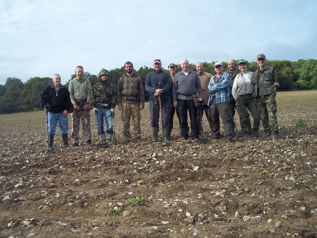 Charity metal detecting dig for Macmillan